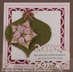 Heartfelt Creations Christmas Cling Rubber Stamp Set Petite Poinsettia