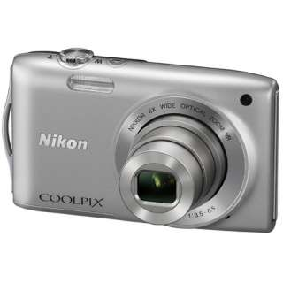 Nikon COOLPIX S3300 (Silver) Compact Digital Camera 8GB High Quality