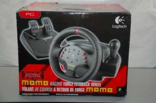 LOGITECH MOMO FORCE FEEDBACK STEERING WHEEL + PEDALS