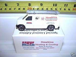 MATCHBOX 2006 HAWKINS HEATING & COOLING FORD PANEL VAN*