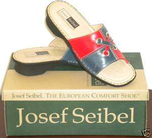 New Womens Josef Seibel Red & Blue Sandals Euro 37
