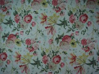 Kaufman Linen Texture Floral Drapery Upholstery Fabric |