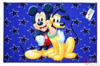 Disney Mickey Mouse w/Pluto Carpet/Accent Mat 36x23