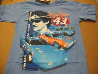 Richard Petty #43 Vintage Car T Shirt   Checkered Flag Sports