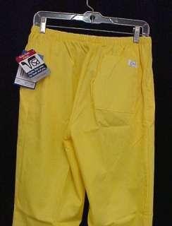 Scrub Pants Scrubs Lemon Peel Yellow Crest M 161 New