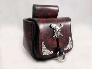 Handmade Pirate Medieval Steampunk Leather Belt Pouch Bag SCA LARP