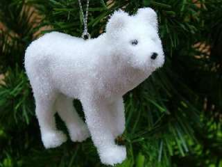 New Snow Artic Wolf White Animal Christmas Ornament