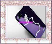 Purple Luxury Diamond Crystal Hard Case Cover For All iphone 4 4G 4S