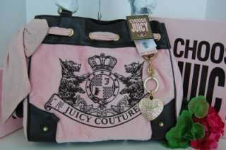 NWT AUTH Juicy Couture New Scottie Embroidery Pink Brown Daydreamer