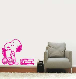Snoopy Reading Wall Vinyl Mural Art Sticker/Decal