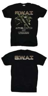 TEAM SWAT T SHIRT SECURITY PISTOLE PUMPGUN SCHWARZ GR.L