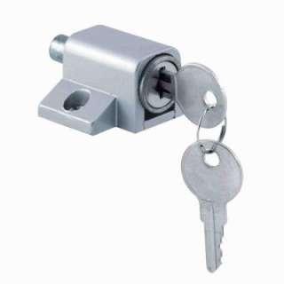 Line Gray Keyed Push In Sliding Door Lock U 9861