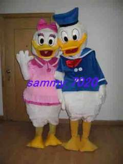 New adult Donald & Daisy Duck mascot Costume free S/P