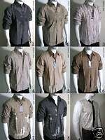 Mens Casual Relax Patch Print Long Sleeve Shirts M L XL
