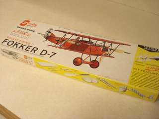 STERLING FOKKER D 7 RUBBER POWERED MODEL AIRPLANE KIT **