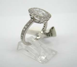 Fred Leighton 1.60ct Rose Cut Diamond Micro Pave Platinum Ring   New