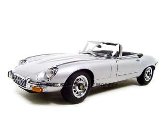 JAGUAR E TYPE ROADSTER III SILVER 118 AUTOART MODEL
