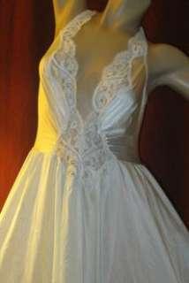 VTG OLGA 2 tone AMAZING Full 200 Sweep RARE LACE Slip Dress Gown