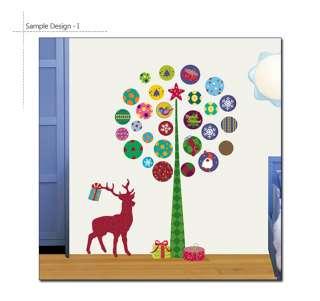 RUDOLF & CHRISTMAS TREE Childrens Wall Decor Stickers