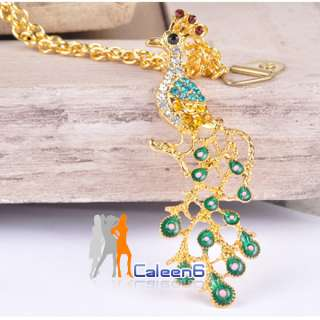 NEW Peacock Style Lady Necklaces Sweater Chain Fashion