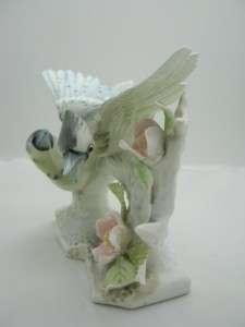Vintage Fine Bone China Pair Blue Jay Birds Figurine