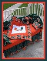 NEW baby crib bedding set made w/ MIAMI HURRICANES team