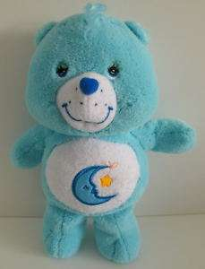 Blue Bedtime Moon Star Care Bear Rattle Plush Toy 11