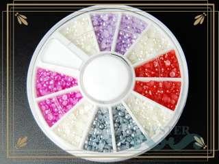 Colors Wheel Nail Art Pearl Rhinestone