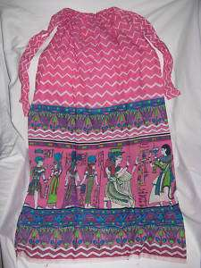 Egyptian Cotton Queen Casual Dress Pink Cleopatra Large