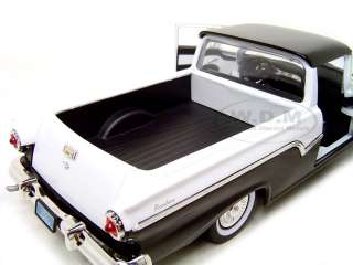 1957 FORD RANCHERO WHITE/BLACK DIECAST CAR MODEL 1/18