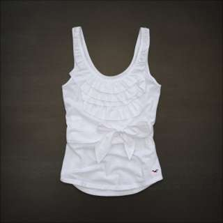 Hollister by Abercrombie womens El Morro Pretty Ruffles Tank Top NWT