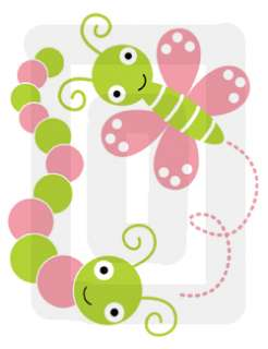 DRAGONFLY BUTTERFLY BUGS BABY GIRL WALL STICKERS DECALS