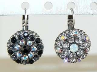 Mariana Handmade Swarovski Crystal Earrings 1029 Black or Clear