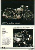 1933 NORTON INTERNATIONAL 500 MOTORCYCLE PICTURE CARD