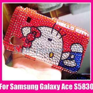 Hello Kitty R Bling Case Cover Samsung Galaxy Ace S5830