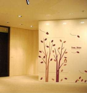 Tree Story 32 in tall  removable vinyl art wall decals