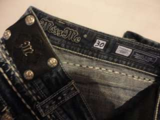Flap Pocket Boot Cut THICK STITCH Jeans BUCKLE 30 x 37 Long