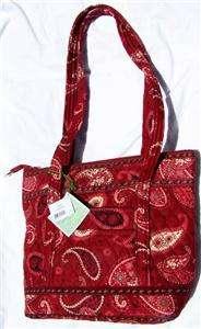 VERA BRADLEY Mesa Red Villager Purse Handbag RETIRED NEW NWT