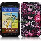 BLACK Butterfly SILICONE GEL COVER CASE for. AT&T Samsung Galaxy Note