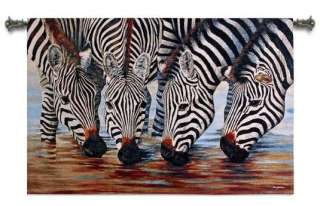 AFRICAN ZEBRA STRIPES DECOR ART TAPESTRY WALL HANGING