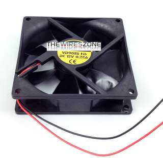 NEW 5 INCH 12 VOLT DC BRUSHLESS COOLING FAN FOR CAR AUDIO/COMPUTER