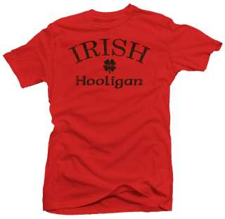 Irish Hooligan Ireland New Funny Retro Humor T shirt