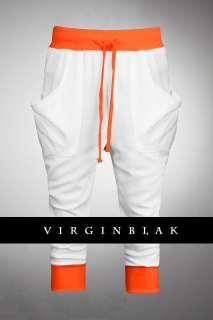 vb HOMME Mens Fluoro Cuff Baggy Skinny Sweat Pants 3CD |