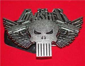 PUNISHER Marvel ARSENAL SKULL Crossed Guns BELT BUCKLE