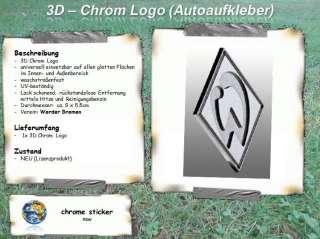 Werder Bremen   3D Chrom Logo Aufkleber Sticker Auto