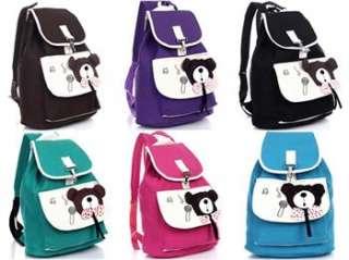 Fashion Girls/Womans Canvas Backpacks Handbag Bags Purse Bookbags