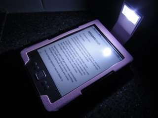 Pink Leather Case Cover For  Kindle 4 With LED Light 2011