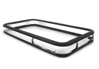 BLACK CLEAR SKIN BUMPER CASE FOR APPLE IPHONE 4 4G