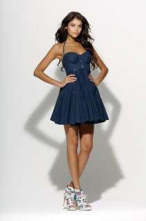 Miss Sixty Blu Door Denim Dress In Navy