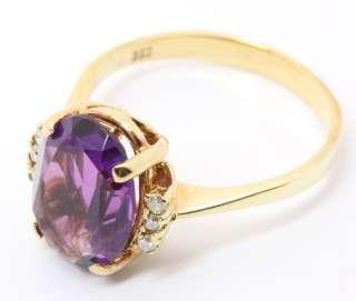 333 8kt Damen Gold Ring Amethyst Amethystring Schmuck Gelbgold Ametyst